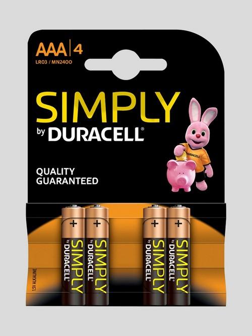 Piles AAA (lot de 4), Duracell