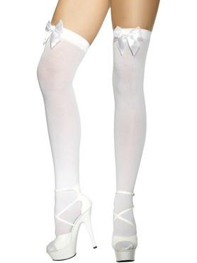 Fever White Stockings with Bows