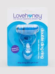 Lovehoney Double Ding Vibrating Cock Ring, Blue, hi-res