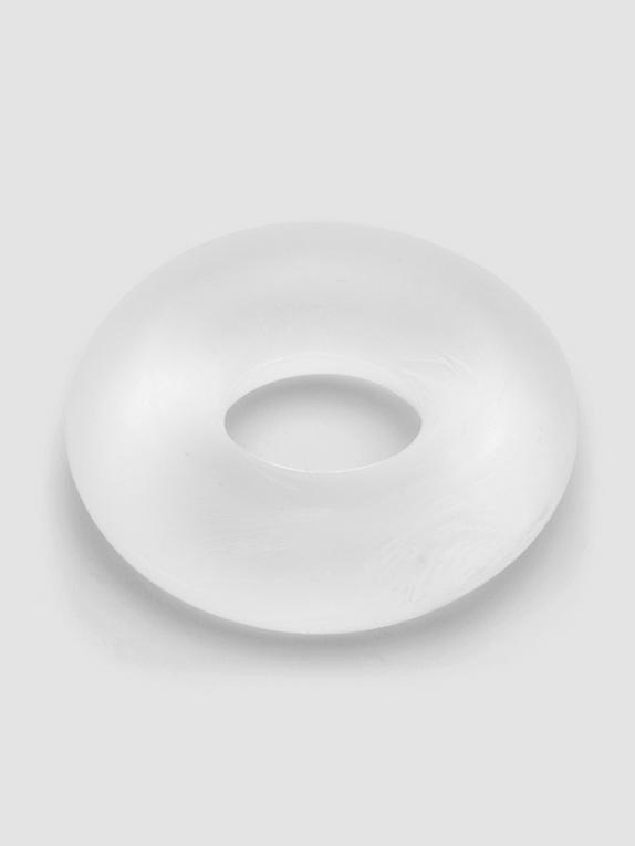 BASICS Doughnut Stretchy Cock Ring, Clear, hi-res