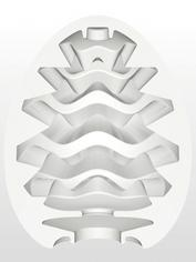 TENGA Egg Wavy Textured Male Masturbator, Clear, hi-res