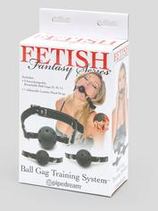 Fetish Fantasy Breathable Ball Gag Training System (3 Balls), Black, hi-res