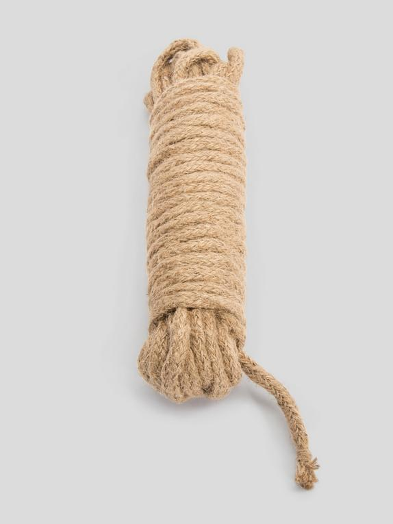 Bondage Boutique White Hemp Bondage Rope 10 Metre, Brown, hi-res