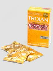 Trojan Ultra Ribbed Ecstasy Condoms (10 Count), , hi-res