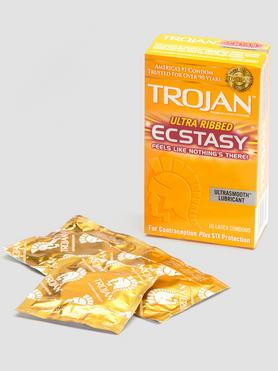 Trojan Ultra Ribbed Ecstasy Condoms (10 Pack)
