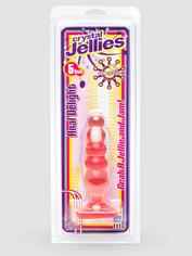 Doc Johnson Crystal Jellies Beaded Butt Plug, Pink, hi-res