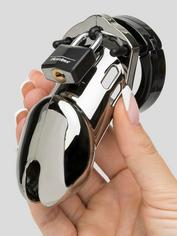 CB-6000 Designer Chrome Male Chastity Cage Kit, Silver, hi-res