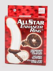 All Star Enhancer Cock and Ball Ring, Black, hi-res