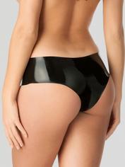 Rubber Girl Latex Panties, Black, hi-res