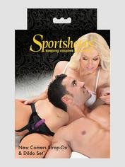 Sportsheets Newcomers Unisex Strap-On Starter Kit 5 Inch, Black, hi-res