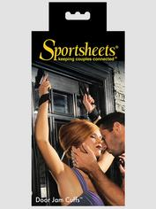 Sportsheets Door Jam Cuffs, Black, hi-res