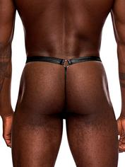 Male Power Jouster Pouch Thong, Black, hi-res