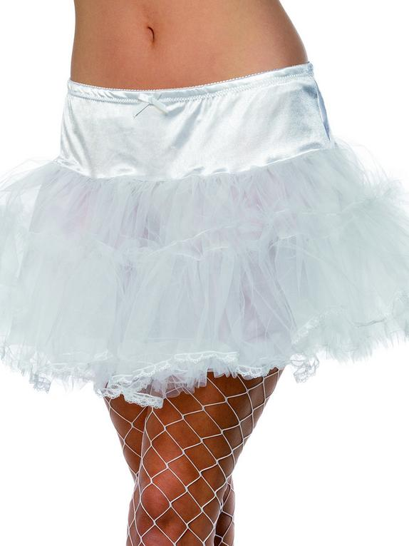 Fever Satin and Mesh Layered Petticoat, White, hi-res
