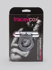 Tracey Cox Supersex Twin Silicone Vibrating Love Ring for Couples, Black, hi-res