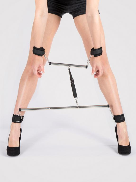 Fetish Fantasy 24 Inch Spreader Bar and Handcuff Set, Silver, hi-res