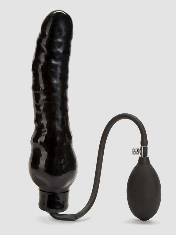 Cock Locker Huge Inflatable Dildo 9 Inch, Black, hi-res