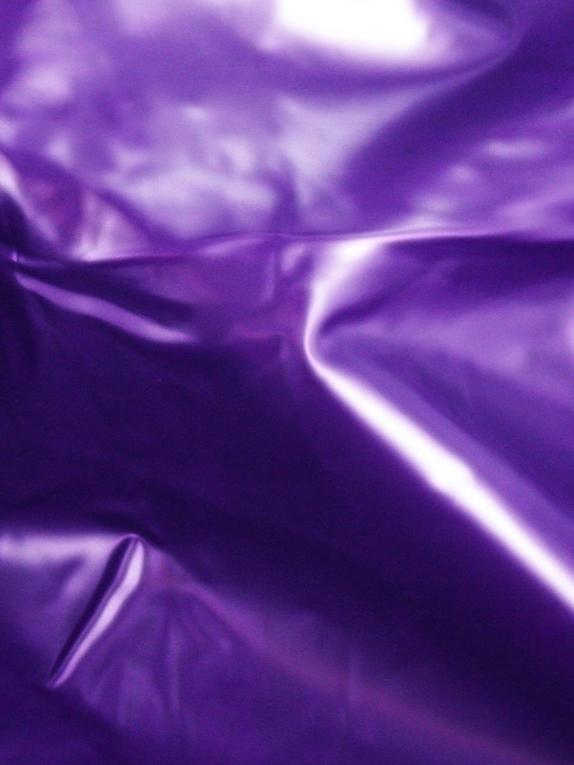 Slippery Vinyl Flat Double Bedsheet, Purple, hi-res
