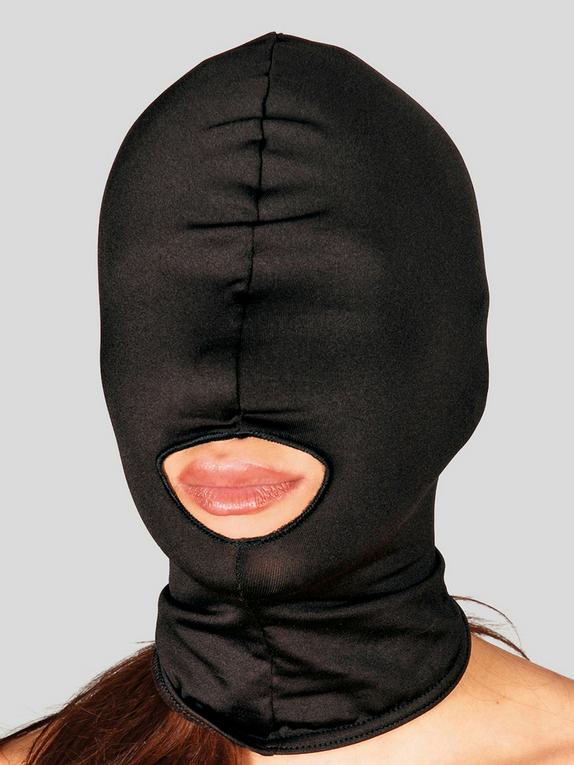 Bad Kitty Open-Mouthed Zentai Hood, Black, hi-res