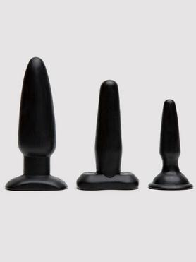 Set de Tres Plugs Anales Negros Regaliz