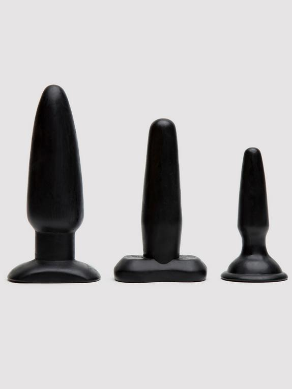 Liquorice Dip Butt Plug Set (3 Piece), Black, hi-res