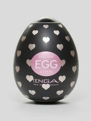 TENGA Egg Lovers Heart Textured Male Masturbator, Clear, hi-res