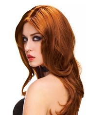 Straight or Wavy Long Auburn Wig, Red, hi-res