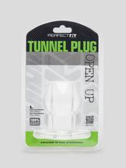 Perfect Fit Medium Tunnel Anal Plug 3 Inch, Clear, hi-res