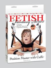 Fetish Fantasy Sex Position Master with Restraint Cuffs, Black, hi-res