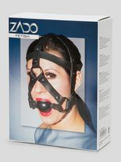 Zado Leather Head Harness and Medium Ball Gag, Black, hi-res