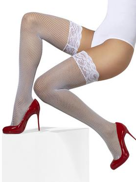 Fever Fishnet Hold-Ups with Lace Tops