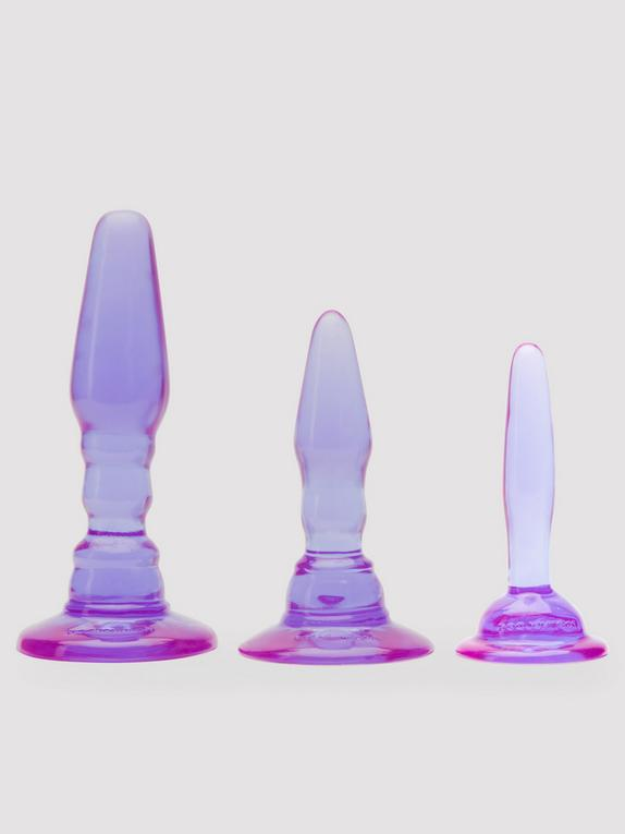 Doc Johnson Wendy Williams Triple Anal Training Butt Plug Kit, Purple, hi-res