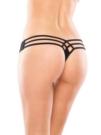 Coquette Lace and Lycra Cage-Back Thong