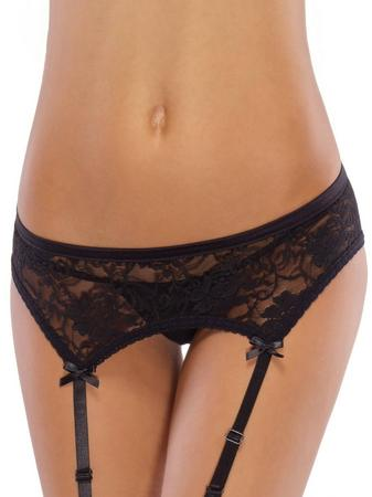 Coquette Stretch Lace Garter Belt with Satin Bows
