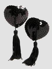 Lovehoney Oh! Sequin Nipple Tassels, Black, hi-res