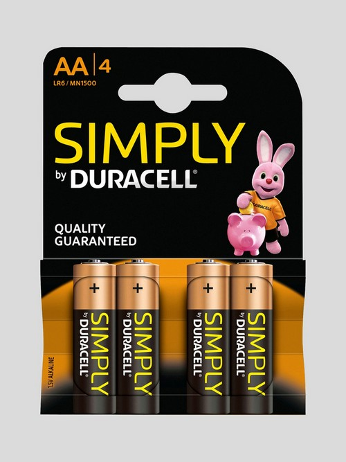 Piles AA (lot de 4), Duracell