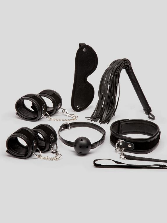 Bondage Boutique Dominant Dream Bondage Kit (6 Piece), Black, hi-res