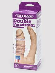Doc Johnson Vac-U-Lock Double Penetration Dildo, Flesh Pink, hi-res