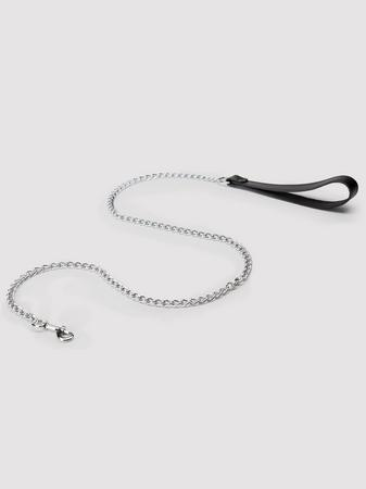 DOMINIX Deluxe Leather Handle Chain Leash