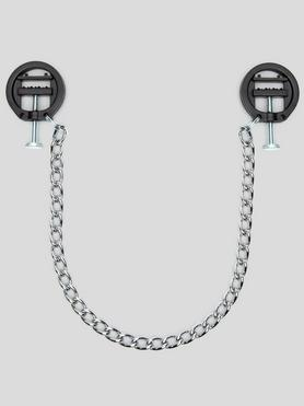 DOMINIX Deluxe Adjustable Bite Nipple Clamps with Chain