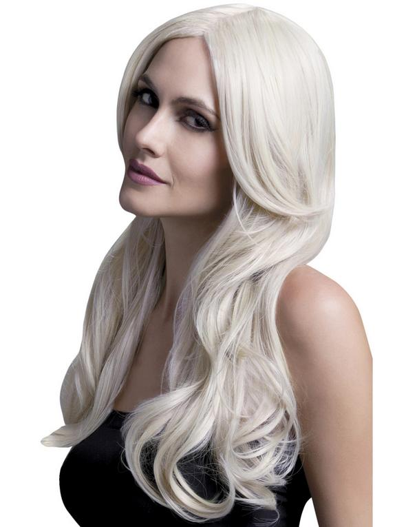 Fever Long Blonde Wavy Wig with Centre Parting, Blonde, hi-res