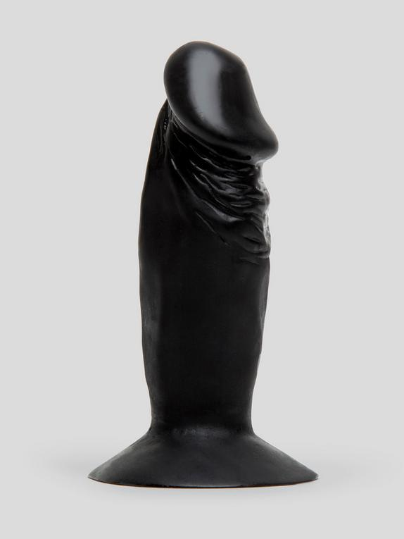 Realistic Penis Butt Plug with Suction Cup Base, Black, hi-res