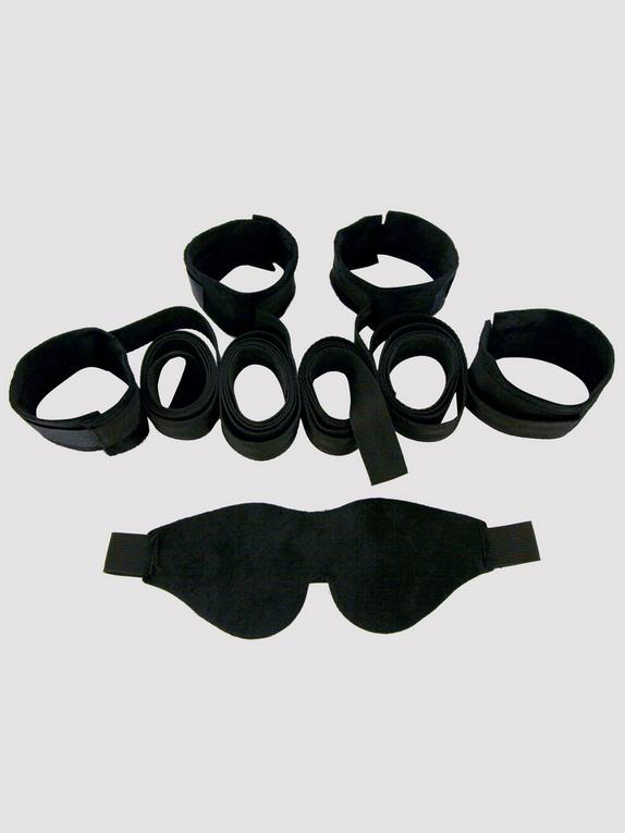 Sex & Mischief Flirt Our First Bondage Kit, Black, hi-res