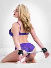 DOMINIX Deluxe 20 Inch Expandable Spreader Bar with Heavy Leather Cuffs , Black, hi-res