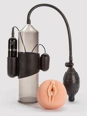 Lust Pumper 10 Function Vibrating Penis Pump, Black, hi-res