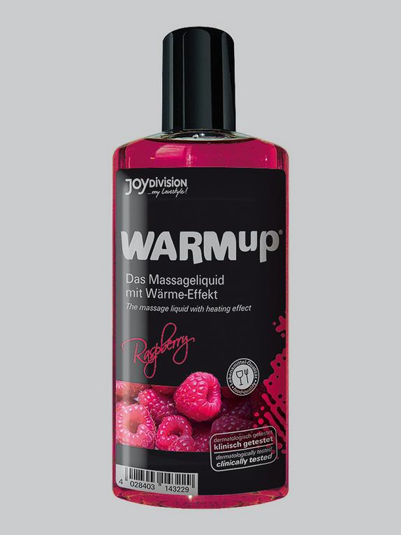 Warming Raspberry Flavoured Massage Lubricant 150ml, , hi-res