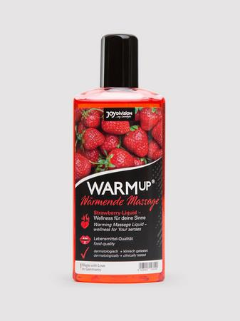 Warming Strawberry Flavored Massage Lubricant 5.2 fl. oz