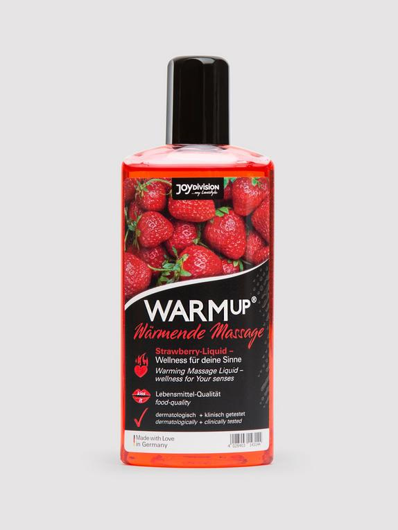 Warming Strawberry Flavoured Massage Lubricant 150ml, , hi-res
