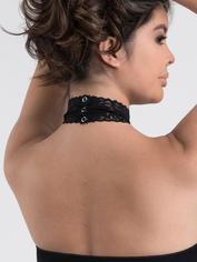 Lovehoney Dangerous Curves Sheer Suspender Bodystocking, Black, hi-res