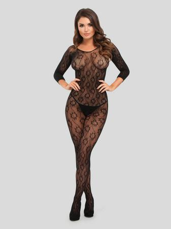 Lovehoney Boudoir Babe Lace Crotchless Bodystocking