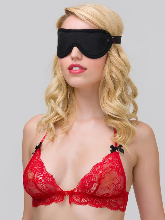 Bondage Boutique Soft Blindfold, Black, hi-res